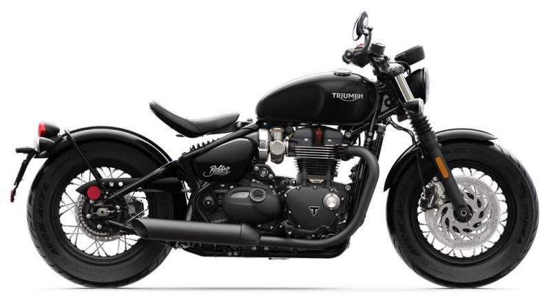 motorcycle photo TRIUMPH - BONNEVILLE BOBBER BLACK(2019) CUSTOM