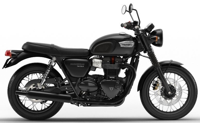 motorcycle photo TRIUMPH - BONNEVILLE T100 BLACK(2019) CUSTOM